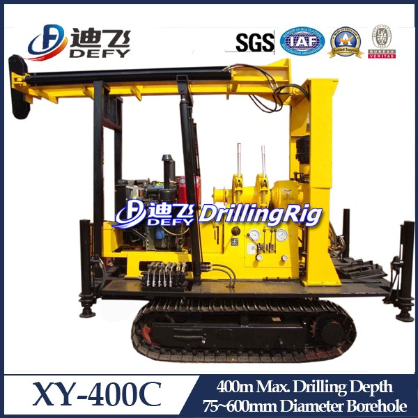 New Arrival!! XY-400C Diesel engine Power Type and New Condition Borehole Drilling Machine Rig