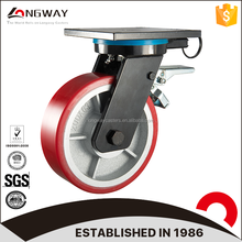 High quality swivel casters heavy duty truckle locking caster wheels with brake