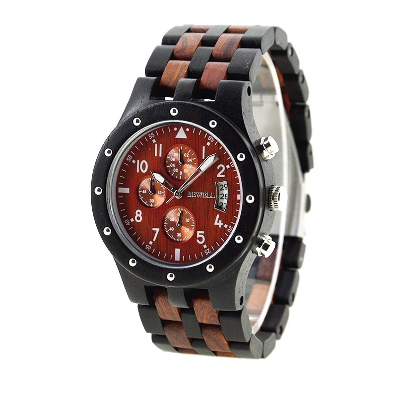 Handcrafted Bewell wooden watch cool watches men business for sale