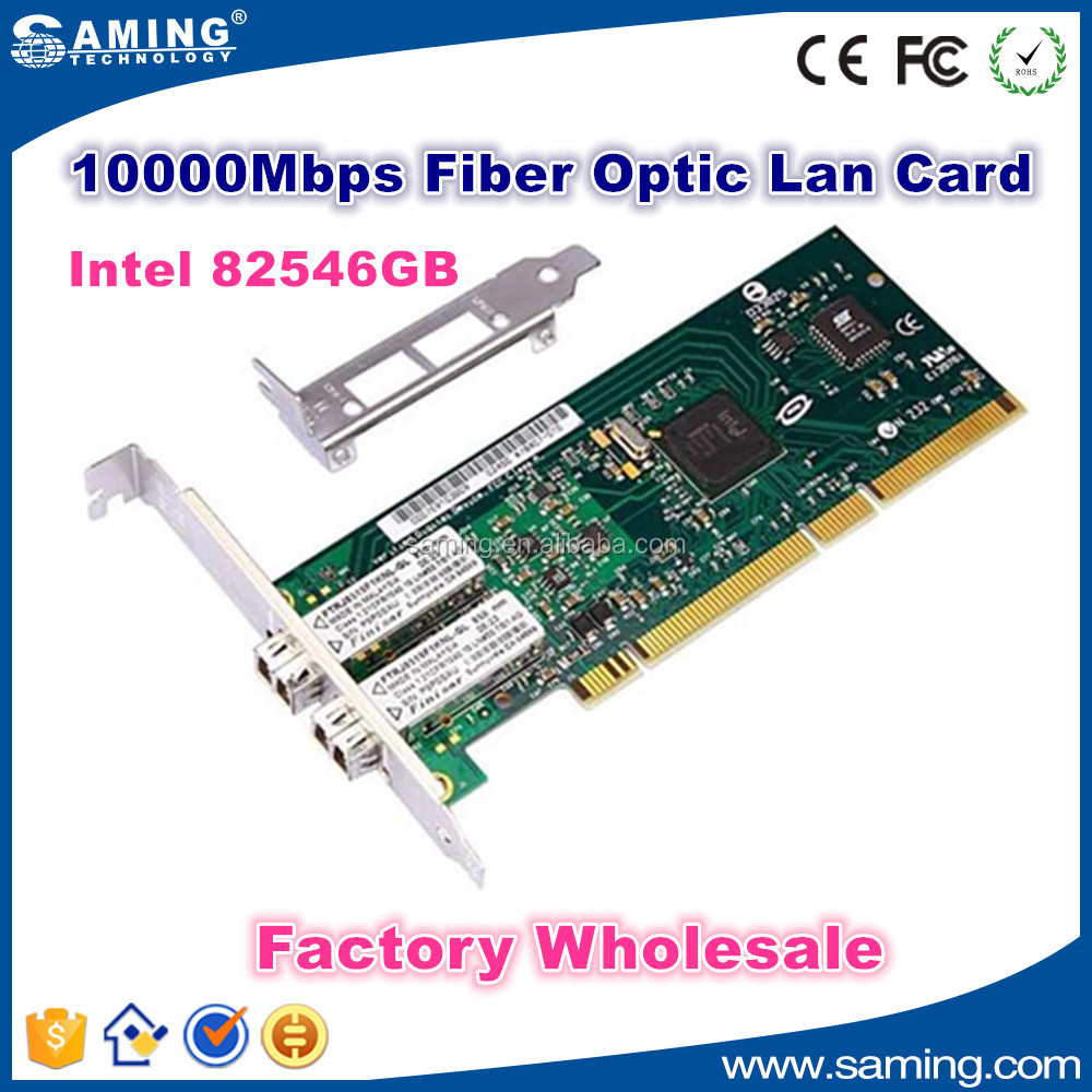 Intel 82546 2xLC port PCI-X 1000Mbps Gigabit fiber opitical Network Card Adapter