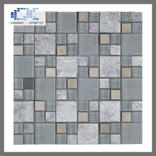 kitchen backsplash low price glass mosaic pattern metal tiles