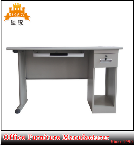 DAS-048 office cheap steel computer desk/Modern stainless iron office desk low price