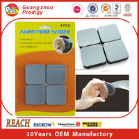 Heavy furniture moving adhesive plastic slider for appliance