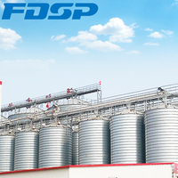 Widely Used 100/500/1000/1500T Grain Storage Steel Silo For Sale