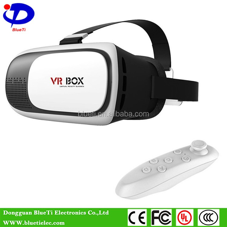2016 best 3d vr glasses virtual reality headset 3d vr box 2.0 + Bluetooth remote controller