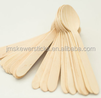 140/160mm Wooden cutlery Disposable wooden spoon wooden cutlery Wholesale