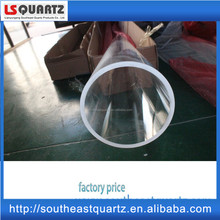 Large clear fused silica quartz cylinder tube for diffusion furnace