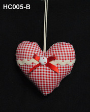 Handmade heart shape christmas outdoor indoor decorations wall hanging decoration