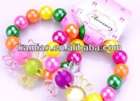 2015 new designed wholesale charm bracelets plastic jewelry for kids