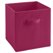 Rose Red Classify Underwear Durable Fabric Bin Storage