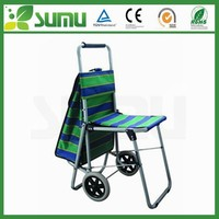 custom size folding beach chair with wheel