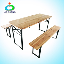 Factory Outlet modern dining table set wooden folding table banquet party beer bench wood table