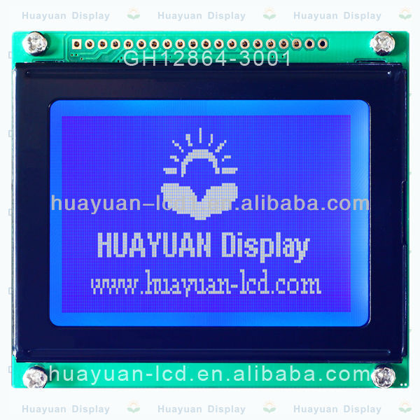 3.0 inch 128x64 dots STN sunlight readable lcd module with controller (KS0107)
