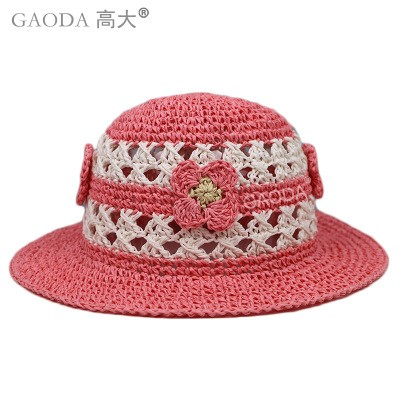 Wholesale kids sun hats straw hat for dolls