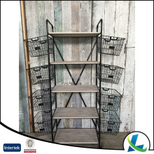 High Quality Decorate 5 Tiered Corner Garden Shelf Plant Stand