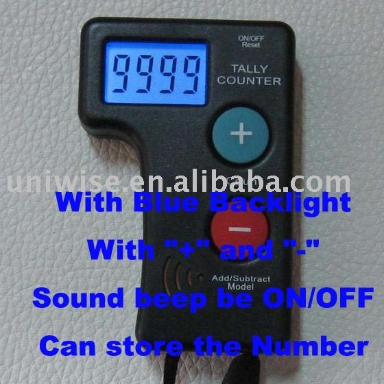 4 digits LCD AST2 light sound tally counter add and subtract