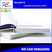Cardboard Adhesive Case Wrap Book Printing Hardcover Book Printed By High Quality Coated Paper stock