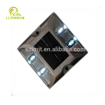 Direct manufacture single side LED aluminum solar swareflex road stud
