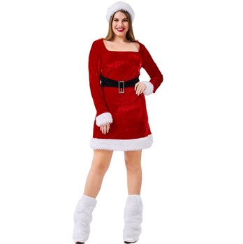 women girls sexy santa claus Christmas costume fancy dress for sale woman plus size santa claus dress costumes