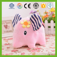 China fashionable supplier pink plush elephant doll for baby