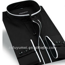Casual banded italian collar shirts for men