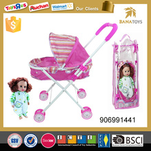 32.5CM Baby Doll Girl Games Baby Alive Doll Stroller with Car Seat