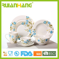 High quality English new bone china dinner set with floriculture