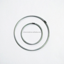 Custom size steel O wire wreath ring