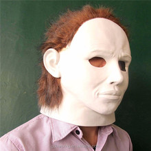 white halloween mask/white full face feather masks
