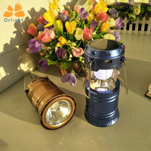 Wholesale Price Multi-Functional Emergency Solar Camping Light Foldable Rechargeable Lantern