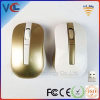 big ergonomic usb mouse wireless with luxury gold colorVMW-126