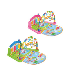 Eco-friendly Infant rattles fitness piano musical activity baby gym playmat