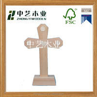 standing wooden crosses,new fashion design religious wood home decor craft ,