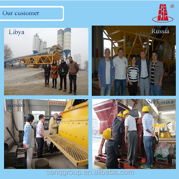 75m3/h Portable Ready Mixed Concrete Mixing Plant Mobile Concrete Batch Plant