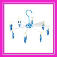 Wholesale umbrella shape plastic used foldable clothes hangers