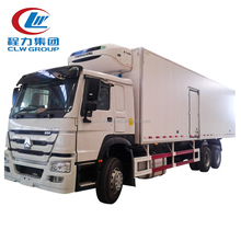 Hot sale refrigerated cold room van truck for meat and fish