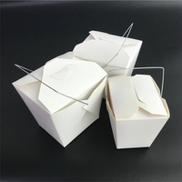 Hot Sell Take Away Food Grade Recycled Kraft Paper Folding Lunch Box For Fast Food Packaging