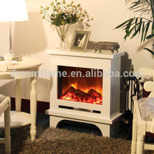 Popular best prices good quality white marble mantel electric fireplace