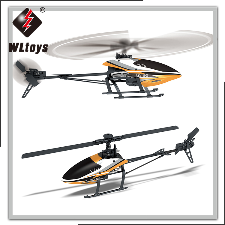 New WLTOYS V950 3D6G 6CH Single Blade RC Helicopter