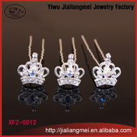 [200pcs/box] Fashion Clip Hair jewelry Crown Shaped Hairpin For Women wholesale