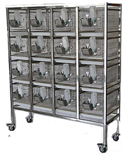 Stainless steel dry-feeding rats experimental cage