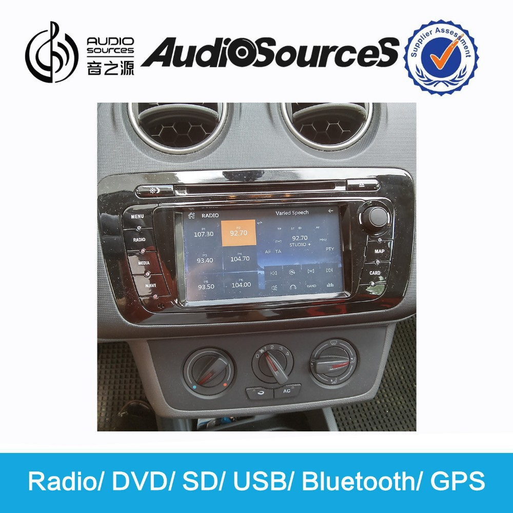 wholesale 2 din touch screen car radio for seat ibiza 2013 DVD Player with gps bluetooth HD video car gps