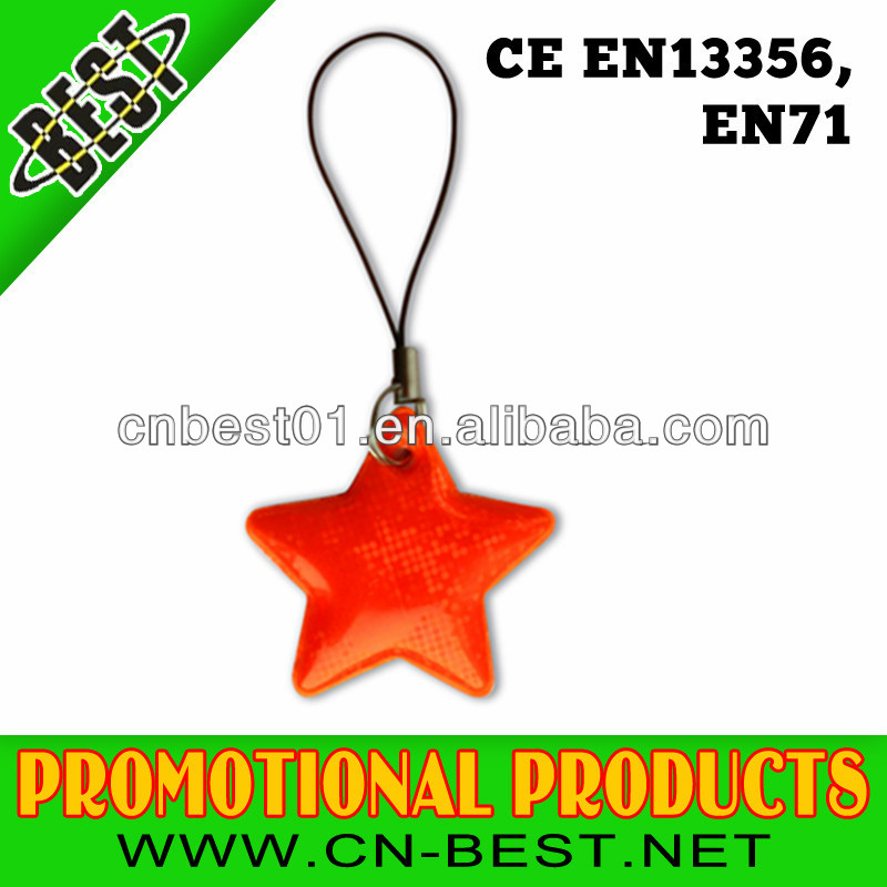 hot sell EN71 standard pvc Reflective Key chain with cheap price wholesale