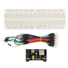 New DIY Test Circuit 65 Jump Wires 830 <strong>Point</strong> MB102 Breadboard Power Supply Module Science Starter Kit For Arduino