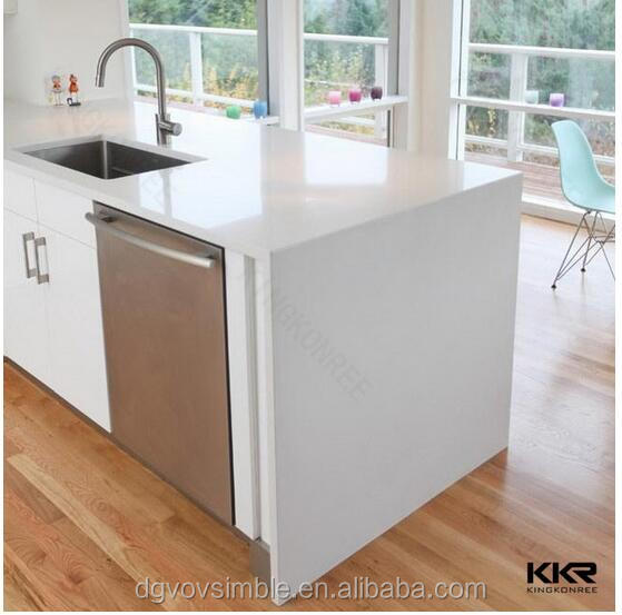 Home Kitchen Solid Surface Counter Top Design Restaurant Kitchen Sink Acrylic Modified