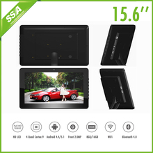 Best Price Android 4.4 touch 15.6 inch metal shelf LCD checking information digital signage display tablet