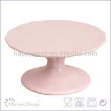 glass cover ceramic stoneware cake plate,cake stands,birthday cake holder proveedor china