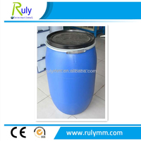 200 Litre Blue Plastic Drum with hoop