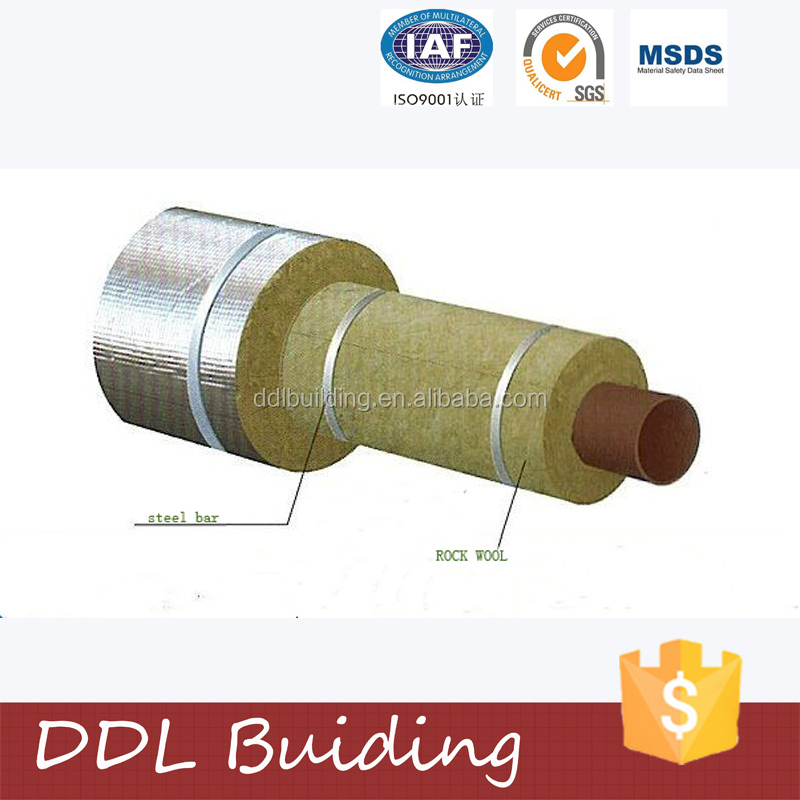 Rock wool pipe heat insulation