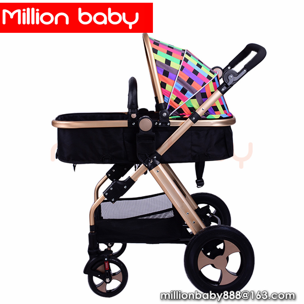 Top selling cheap solid wheel luxurious american baby strollers cochecito bebe